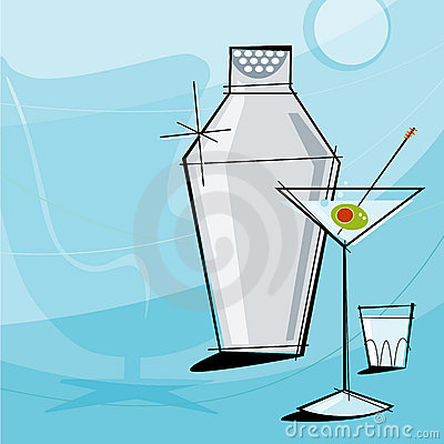Free Retro Martini (Vector) Royalty Free Stock Photography - 2564797