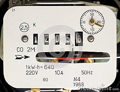 Retro measuring instrument of electric energy
