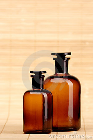 Retro medicine bottles