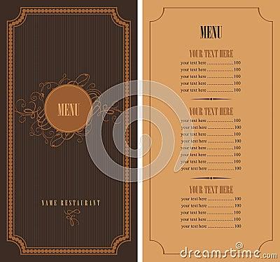 Retro menu Vector Illustration