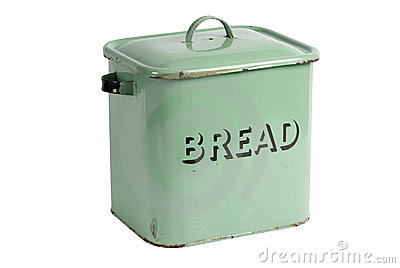 Retro metal bread bin