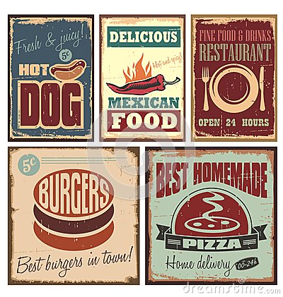 Free Retro Metal Signs Stock Images - 27614004