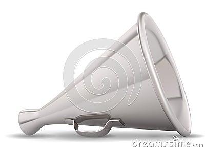 Retro metal speaking trumpet