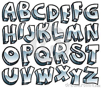 Retro metallic font