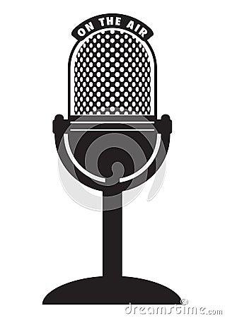 Free Retro Microphone Royalty Free Stock Photos - 10772288