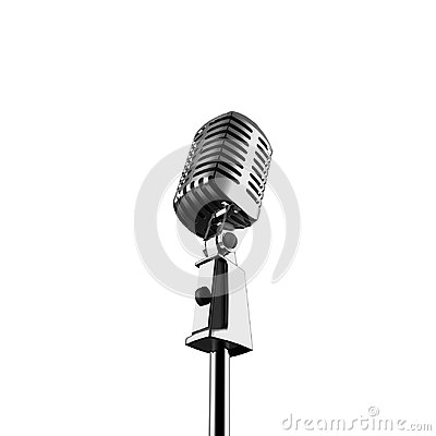 Free Retro Microphone 3d Isolated Render Royalty Free Stock Images - 118811249