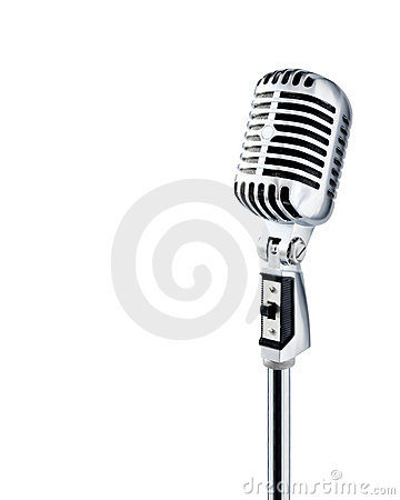 Retro Microphone (+clipping path)
