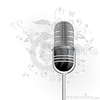 Retro microphone graphic