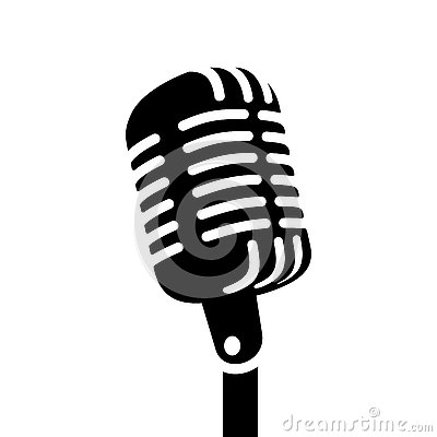 Retro microphone vector sign Vector Illustration