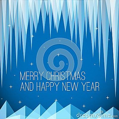 Retro minimalistic Christmas card