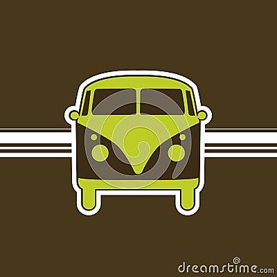 Free Retro Minivan Royalty Free Stock Photo - 1527855