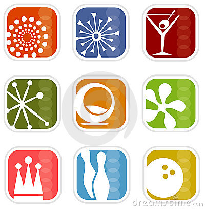 Free Retro Mod Icons (vector) Royalty Free Stock Photography - 2564767