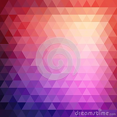 Free Retro Mosaic Pattern Of Geometric Triangle Shapes Stock Image - 39458301