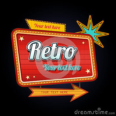 Free Retro Motel Sign With Copyspace Stock Images - 29861214