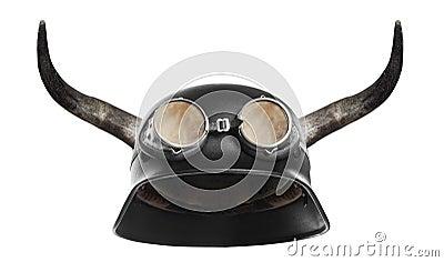 Retro motorcycle helmet.