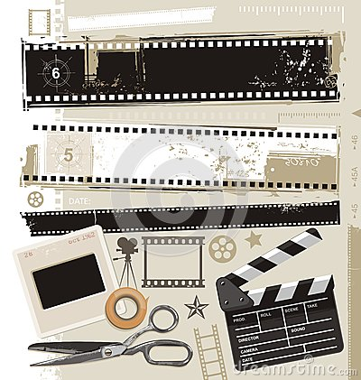 Free Retro Movie, Cinema And Film Vector Design. Stock Photos - 28760473