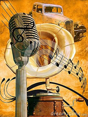 Retro Music Royalty Free Stock Images Image 19091589