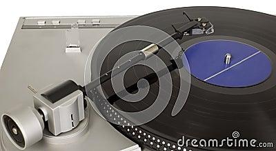 Retro music player with vinyl