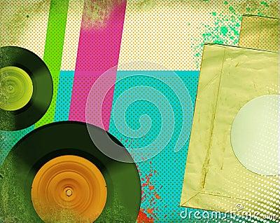 Retro music poster.Pop art