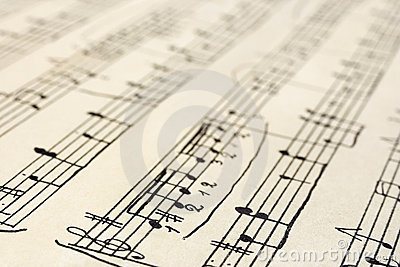 Retro music sheet