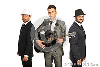 Retro musical band