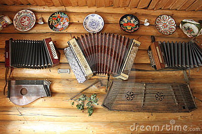 Retro musical instruments