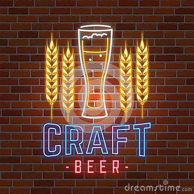 Free Retro Neon Beer Bar Sign On Brick Wall Background. Royalty Free Stock Photo - 98378205