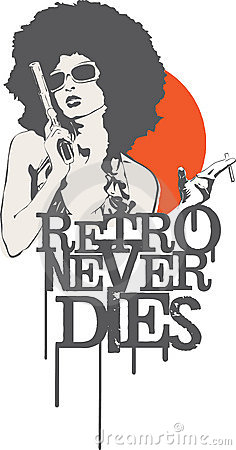 Free Retro Never Dies Stock Images - 18953514