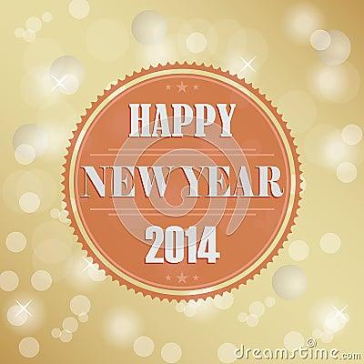 Retro New Years wish background