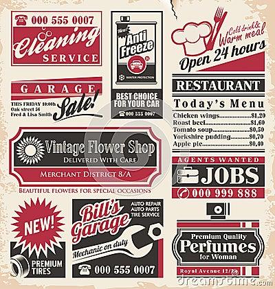 Free Retro Newspaper Ads Design Template Stock Image - 32253851