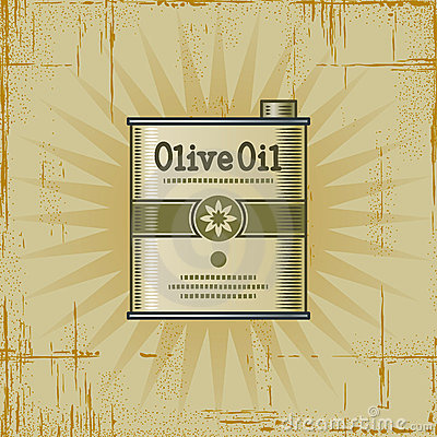 Retro Olive Oil Can