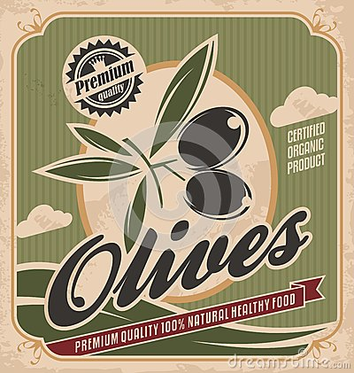 Free Retro Olive Poster Design Stock Photo - 33025910