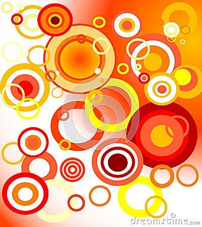 Retro orange background