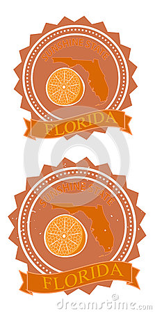 Retro orange florida