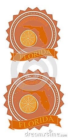Retro orange florida
