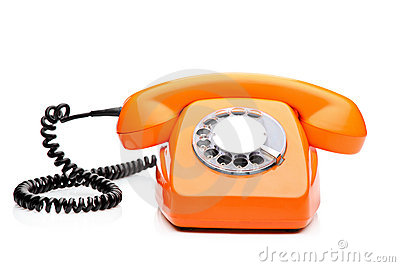 A retro orange phone