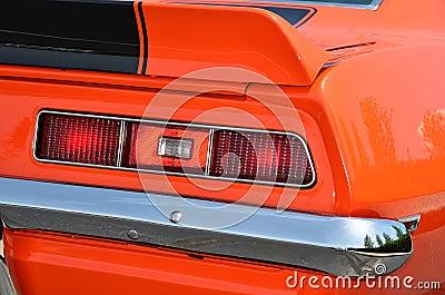 Retro Orange Sports Car
