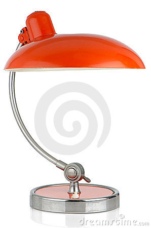 Retro orange table lamp