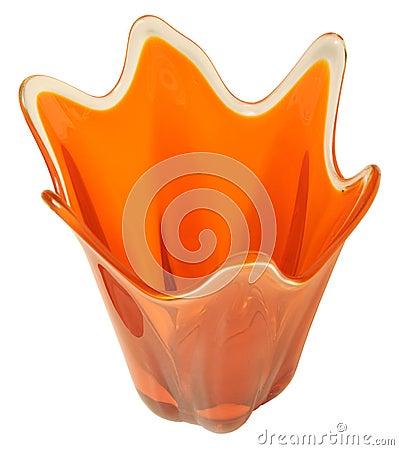 Retro Orange Vase - Isolated