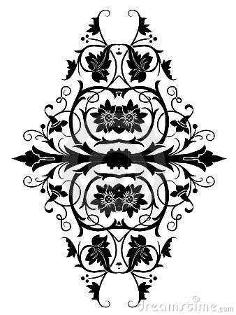 Retro orient flower pattern