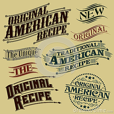 Retro Original Recipe Calligraphic Designs