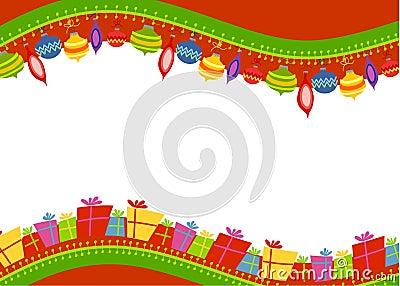 Retro Ornaments Gifts Border