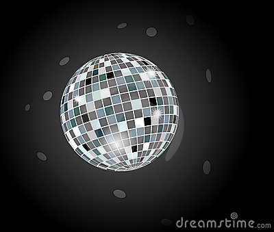 Retro party disco ball
