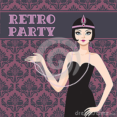 Retro Party Invitation Royalty Free Stock Image - Image: 28801236