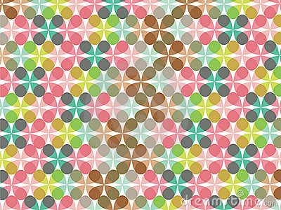 Retro pastel flower pattern
