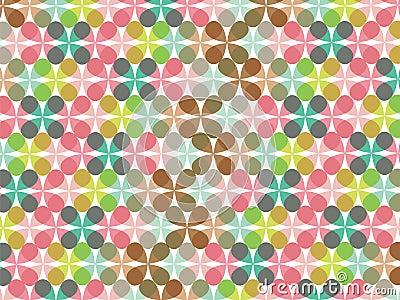 Retro pastel flower pattern