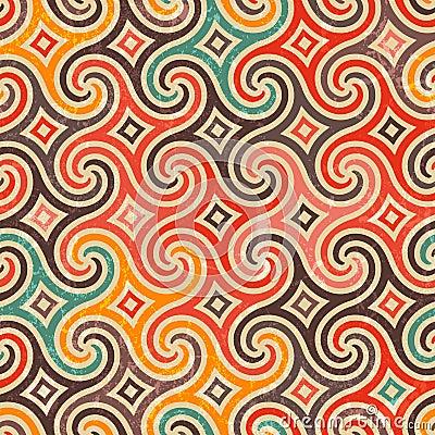 Free Retro Pattern With Swirls. Royalty Free Stock Photos - 33777718