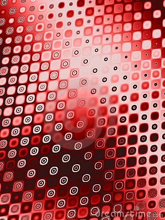 Retro Patterns - Red Circles