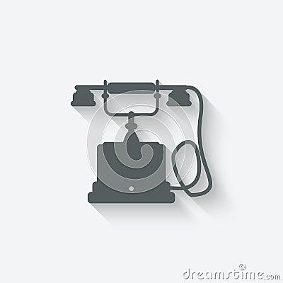 Retro phone design element