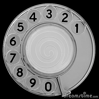 Retro phone dial